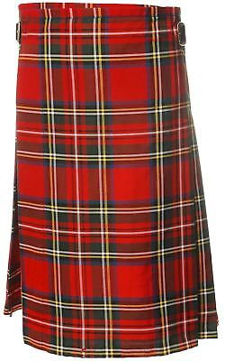 £54.99 • Buy Gents Lightweight Casual Party Kilt Stewart Royal Size 54 56