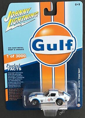 $6.75 • Buy JOHNNY LIGHTNING Gulf 1963 Chevrolet Corvette Grand Sport 1:64