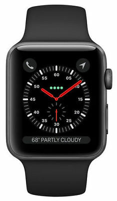 $ CDN757.85 • Buy Apple Watch Series 3 38mm Space Gray Aluminium Case, Black Band, GPS + Cellular
