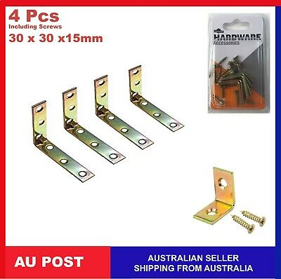 AU6.95 • Buy 4x Heavy Duty Zinc Right Angle Bracket Corner Brace Joint Shelf Support L Shape