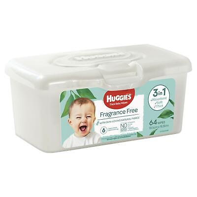 AU7.99 • Buy Huggies Wipes 80 Tub Fragrance Free Hypo-Allergenic Safe For Sensitive Skin