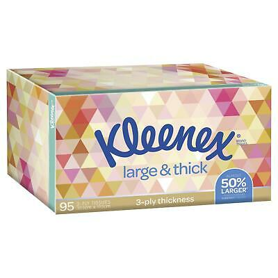 AU2.86 • Buy Kleenex Silk Touch Large 'n' Thick 95 White Tissues