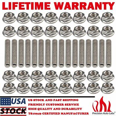 $21.95 • Buy Exhaust Manifold Header Hardened Stainless Steel Bolts For Ford F150 V8 4.6L 5.4
