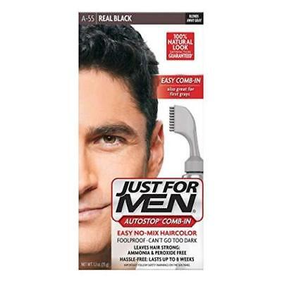 £8.34 • Buy Just For Men AutoStop Men's Comb-In Hair Color Real Black 1.2 Oz Each A-55