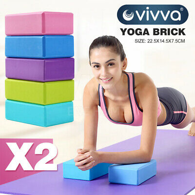 AU24.99 • Buy 2Pcs Yoga Block Brick Foaming Home Exercise Practice Fitness Gym Sport Tool