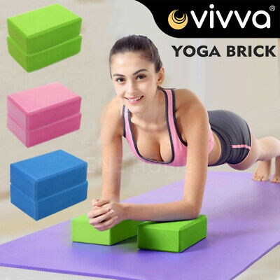 AU17.96 • Buy VIVA 2Pcs Yoga Block Brick Foaming Home Exercise Practice Fitness Gym Sport Tool