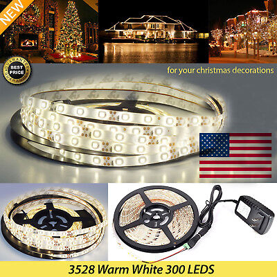 $8.45 • Buy NEW 3528 SMD 5M 300LED Lamp Strip Light + DC Connector + Power Supply DC 12V
