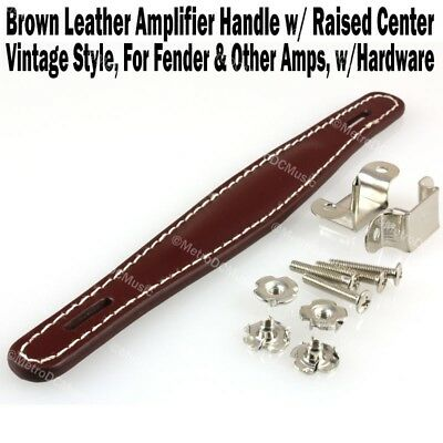 $ CDN14.79 • Buy Brown Vint Leather Amplifier Handle W/ Raised Center For Fender & Other Amp NEW