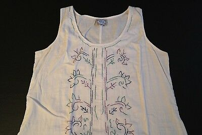 $18.95 • Buy Blue Sky Clothing Hippie Bohemian White Sun Dress Maxi Dress Womens Size Medium