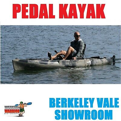 AU1349 • Buy Pedal Drive Fishing Kayak FLIPPER SYSTEM Includes Framed Seat Paddle Rod Holders