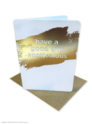 Leaving Bon Voyage Travel Goodbye Good Luck Greetings Card Funny Comedy Humour • 2.25£