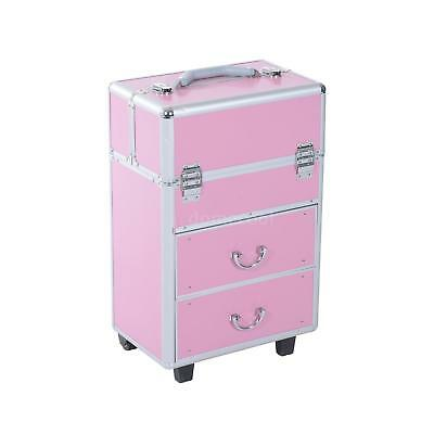$98.45 • Buy Professional Interchangeable MUA Aluminum Rolling Makeup Case Cosmetic Wheeled