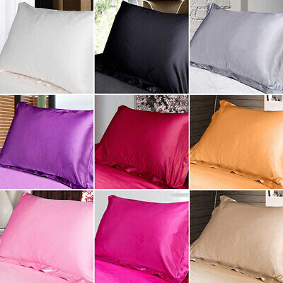 AU6.19 • Buy 58*70cm Silk Satin Soft Pillow Cases Cover Queen Bed Cushion Cover Pillowcases