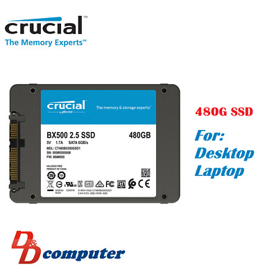 AU75 • Buy Crucial BX500 480GB 2.5  SATA SSD 3D NAND 540MB/s 7mm Internal Solid State Drive