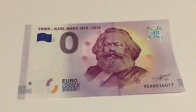 Karl Marx 1818 Currency  €0 Euro Bank Note Gift Communism Christmas Xmas Gift UK • 7.99£