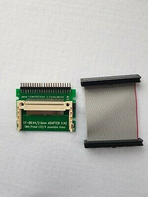 Laptop 44-Pin 2.5  HDD Hard Drive Female IDE Cable + Male IDE To CF Card Adapter • 7.99£