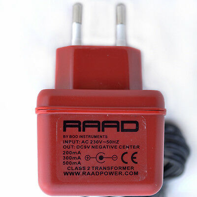AU46.26 • Buy RAAD EURO Regulated Power Supply DC 9V Adapter Guitar Effect Pedal Negative Tip