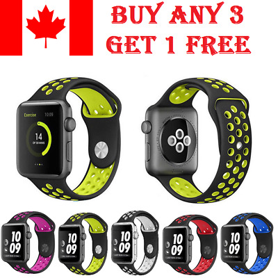 $ CDN7.29 • Buy Silicone Wrist Strap Band Bracelet Replacement Apple Watch IWatch Series 4/3/2/1