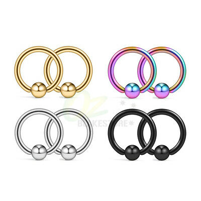 AU3.99 • Buy 2-8pcs Surgical Steel Captive Bead Ring Nose Tragus Lip Ear Piercing Jewellery