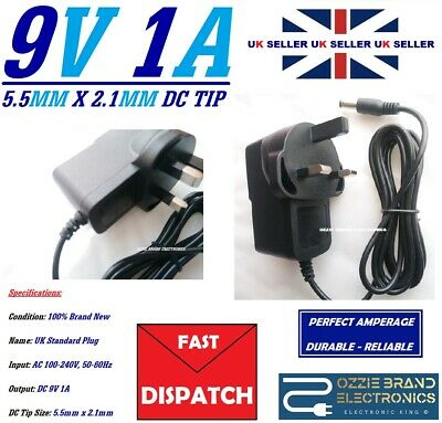 UK 9V 1A Power Supply Adapter Charger To Fit Vtech InnoTab 2 & 3 Learning Tablet • 8£