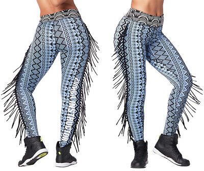 30c6d1824a21a Zumba Tribe INSTRUCTOR Fringe Leggings - Bold Black Sz XS, Med, Lg, XL