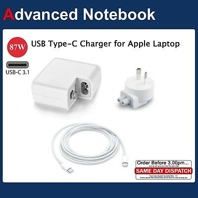 AU38 • Buy 87W Power Adapter Charger For Macbook 15  USB-C Type C Cable Power Supply