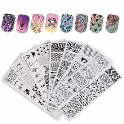 $8.15 • Buy BeautyBigBang Manicure Rectangle Nail Art Stamping Template Plates Flower Animal