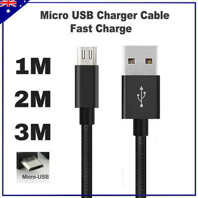 AU4.95 • Buy Micro USB Charger Cable Charging Line 1M 2M 3M For Mobile Android Samsung Galaxy