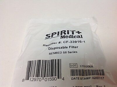 $9 • Buy 9 Individually Wrapped Resmed S8 Filters Spirirt Medical CF-33916-1