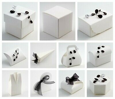 £1.79 • Buy SILK ANTIQUE OFF WHITE - Luxury DIY Wedding Party Favour Gift Boxes - Box Only