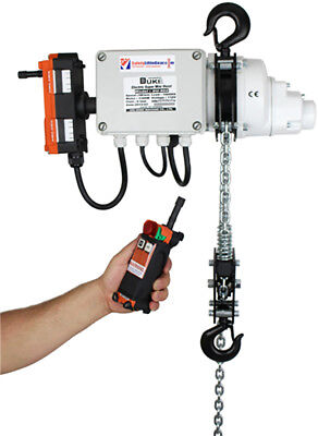 Radio Controlled 1000kg 110v Electric Chain Hoist Lifting Equipment 3-20mtr • 1,664.80£