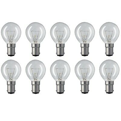 £6.49 • Buy 25W Incandescent SBC B15 Small Bayonet Clear 45mm Round Golfball Bulb - 10 Pack