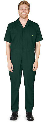 $29.90 • Buy Mens SS Coverall Overall Boilersuit Mechanic Protective Work Wear Regular & Tall