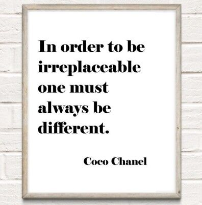 £4.75 • Buy A4 Coco Chanel Inspiration Beauty Typography Print Quote Gift UNFRAMED Poster
