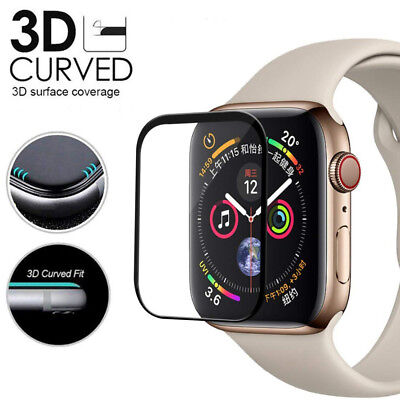 $ CDN3.16 • Buy Apple Watch Series 4 3D Full Cover 9H Tempered Glass Screen Protector 40mm/44mm