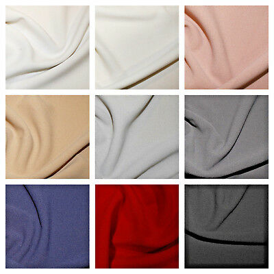 £0.99 • Buy Scuba Crepe Fabric 4 Way Stretch  Lycra  Jersey Spandex Material 148cm Wide.