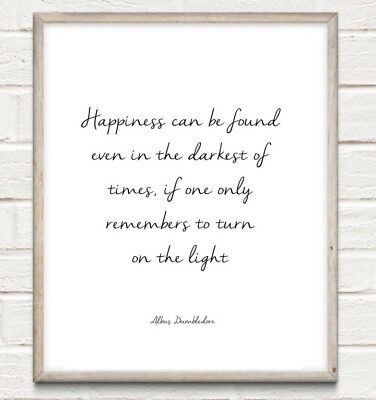 Harry Potter Happiness Typography Print Poster Unframed Home Quote Gift • 4.49£