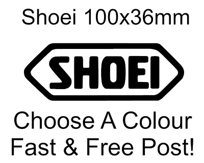 Shoei Sticker Vinyl Crash Helmet Racing Decal Bumper Funny X2 • 1.60£