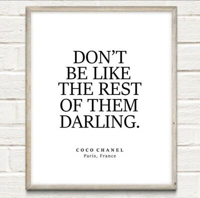 £4.75 • Buy Coco Chanel Rest Of Them Fashion Typography Print Poster Unframed Home Quote