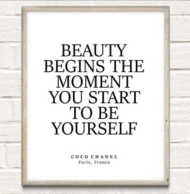 £4.75 • Buy Coco Chanel Beauty Begins Fashion Typography Print Poster Unframed Home Quote