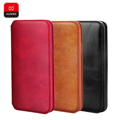 AU23.89 • Buy For IPhone Xs Max Case Real Leather Flip Wallet Card Holder Slim Cover Xs X