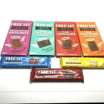 FREE'IST FREEIST CHOCOLATE Gummy Worms Cola Bottles FREE SUGAR  • 3.05£