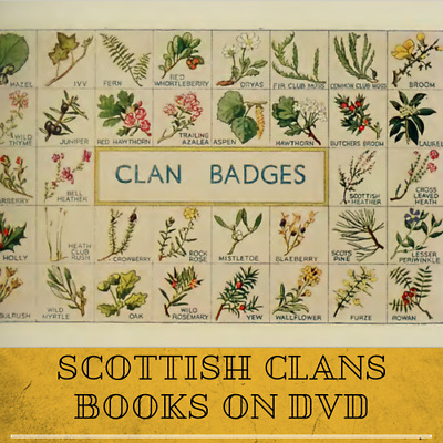 Scottish Clans Tartans Genealogy Highland History |41 Rare Old Books On Data DVD • 3.89£