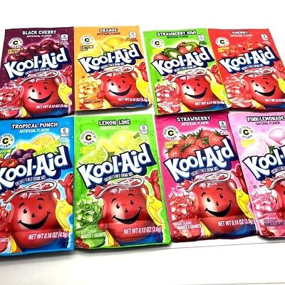 Kool Aid American Powder Mix Drink Single Sachets Packets Made In USA UK STOCK  • 1.99£