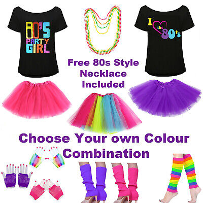 AU49.99 • Buy 80s Fancy Dress Outfit | Womens Ladies 1980s Costumes | 1980s Top Tutu|Hen Party