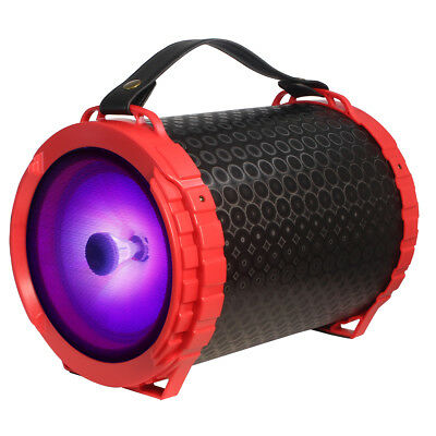 "$39.99 • Buy Fully Powered Bluetooth 1000 Watts Peak Power 6.5"" Speaker W/ LED Light - Red"