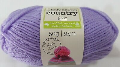 AU4.95 • Buy Cleckheaton Country #2190 Lavender 100% Pure Wool 8 Ply