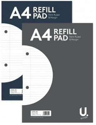 A4 160 Page Lined Ruled Paper Refill Pad Notepad Note Notebook 54gsm Sidebound  • 2.84£