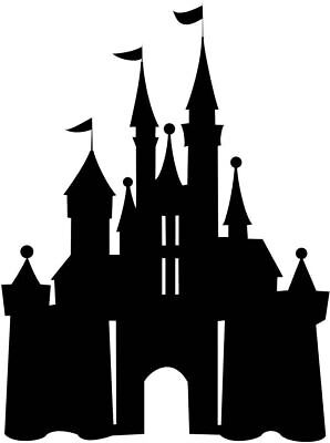 £3.99 • Buy Disney Princess Castle Silhouette Cake Topper Edible Wafer Paper ANY SIZE