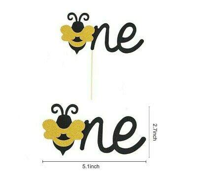 AU5.95 • Buy 1 Bumble Bee ONE Cake Topper Sweet As Can Bee, Fun To Bee One 1st Birthday Party